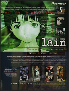 SERIAL EXPERIMENTS LAIN__Original 1999 Trade Print AD / ADVERT / anime__manga