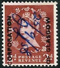 """Great Britain Stamp: Qe Ii 2 Pence """"Corp of Glasgow"""" Commercial Overprint Stamp"""