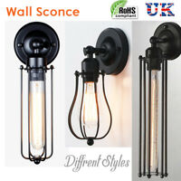 Modern Vintage Retro Industrial Sconce Wall Lamp Fitting Fixture without bulb UK