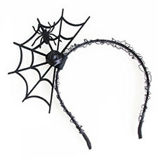Halloween Cosplay Spider Hair Hoop Trendy Spiders Web Headband Headdress P5 X3V7