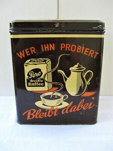 Alte Blechdose - Pero der edle Kaffee - große Werbedose Kaffeedose 1950er Jahre
