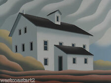 Don Bergland COUNTRY SCHOOL HOUSE 24x30 Original Painting Canadian Listed Artist