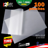 100Pcs Clear 3Mil Thermal Laminating Pouches Sheets 9 x 11.5 Letter Size Rounded