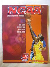 NCAA Basketball Magazine 1999 West Regional America West Arena Phoenix, Arizona