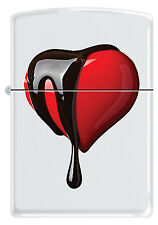 """Zippo """"Heart Chocolate"""" White Matte Finish Lighter - (Limited Production)"""