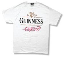 Guinness Signature Irish Beer White T Shirt Adult Medium New Official Merch