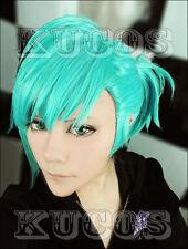 Uta no Prince Sama Mikaze Ai Green mix Blue Party Cosplay Costume Wig + Free Net