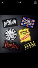 Collection Of 6 Job Lot Iconic PUNK BAND Music Themed Iron On Festival Patches