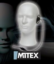 MITEX D SHAPE EARPIECE WITH MIC & PTT - FOR ALL MITEX HANDHELD TWO WAY RADIOS