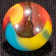 """EPIC Peltier BURNT SUPERMAN NLR Rainbo Vintage Marble, .62"""", VG++, hawkeyespicks"""