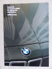 BMW Automobil Leasing - 3er 5er 6er 7er - Prospekt Brochure 01.1984