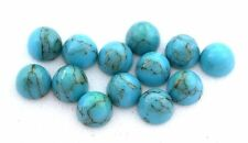 Two 6mm Round Bullet Turquoise Cabochon Cab Gem Stone Gemstone EBS8144