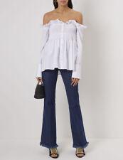 Victoria Victoria Beckham Ruffled Off-Shoulder Shirt Size UK 14 US 10