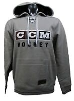 CCM Hockey CLASSIC LACE NECK Adult Senior Hoody Sweatshirt-FEDERAL ... a0788b467