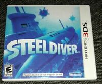 STEELDIVER - NINTENDO 3DS - COMPLETE WITH MANUAL - FREE S/H - (G)