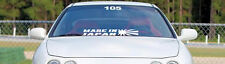 Made In Japan WHITE Windshield Banner Sticker Decal Boost Jdm FREE SHIPPING