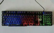 LVLUP Pro Gaming Keyboard Backlit Rainbow LED Keys Tested Vivitar New