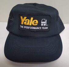 YALE THE PERFORMANCE TEAM FORKLIFT MESH BLACK CAP ADJUSTABLE SNAP