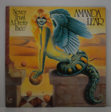 AMANDA LEAR Never Trust a Pretty Face LP 33 T Disque Vinyle POSTER 913 256 1979