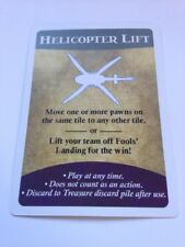 Helicopter Lift Spare / Replacement Card For Gamewright Forbidden Island Game
