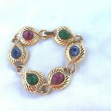 Vintage Jewellery  Gorgeous  Signed Trifari tm Multi Coloured Lucite Bracelet