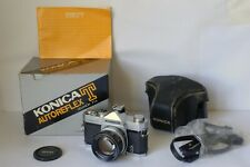 Vintage Konica Autoreflex T Film Camera with Hexanon 57mm f/1.4 Lens Excellent