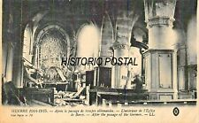 GUERRE 1914-1917 AFTER THE PASSAGE OF GERMAN TROOPS~EGLISE de BARCY-WW1 POSTCARD