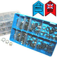 Self Clamping Spring Clips Fuel Air Water Petrol Pipe Clamps | Assorted Box Sets