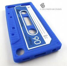 BLUE FUN CASSETTE TAPE SILICONE RUBBER SKIN CASE COVER APPLE IPOD TOUCH 5 5TH