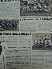 Il calcio e il ciclismo illustrato 1960 N°13- Pro Patria , Foggia e Pisa