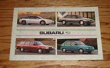 Original 1993 Subaru Full Line Sales Brochure 93 SVX Legacy Loyale Justy