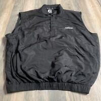 Footjoy FJ Titleist Pro Model 3 Button Golf Vest Black Size M