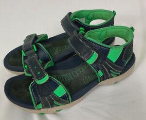Clarks Sandals size 4.5 Kids Active Air Blue & Green