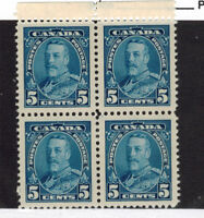 CANADA SCOTT 221 MINT NEVER HINGED BLOCK