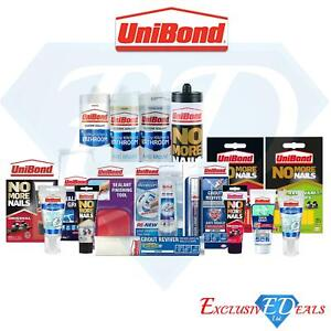 Unibond Household Quick Fix Anti-Mould Sealants, Grout Cream, Adhesive Strips