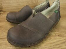 El Naturalista Grey Leather Slip On Loafers Womens Shoes 40 10