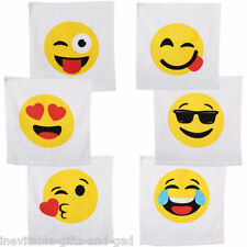 Emoji Emoticon Magic Flannel Towel Face Cloth Travel Camping Kids Fun