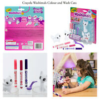 Crayola Washimals Kids Childrens Creative Artwork Blister Pack Cats w/ Markers