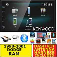 1998-2001 DODGE RAM JVC-KENWOOD BLUETOOTH USB AUX AM/FM CAR RADIO STEREO PACKAGE