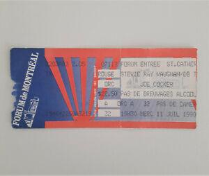 STEVIE RAY VAUGHAN & JOE COCKER Concert Ticket Stub 7/11/1990 Montreal Forum