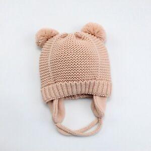 BABY HEADBANDS HATS WINTER NEWBORN BEANIE CROCHET CAP INFANT PHOTOGRAPHY PROPS