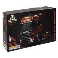 Scania R730 V8 Black Amber Camion Truck Plastic Kit 1:24 Model 3897 ITALERI