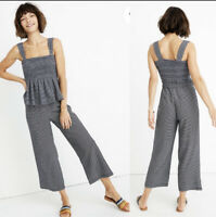 Madewell Texture And Thread Striped Pull On Pants Size Small