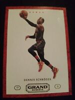 2016-17 Panini Grand Reserve #22 Dennis Schroder Atlanta Hawks Basketball Card