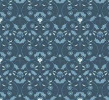 Lewis & Irene - 'Michaelmas' Blue mono floral