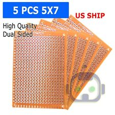 5X Single Side 5x7cm PCB Strip board Printed Circuit Prototype Track LW