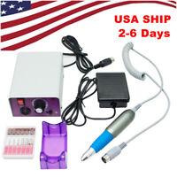 Portable Electric Nail Art File Drill Manicure Tool Pedicure Machine Set Kit USA