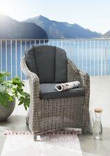 Destiny Sessel Malaga II Vintage Grau Geflechtsessel Polyrattan Gartensessel