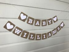 Baby Shower Decoration Personalised Bunting Banner Custom Made Christening