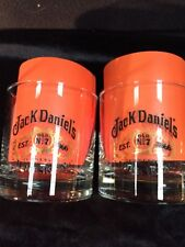 Jack Daniels Low Ball Whiskey Glasses TENNESSEE OLD #7 Set /2 MAN CAVE
